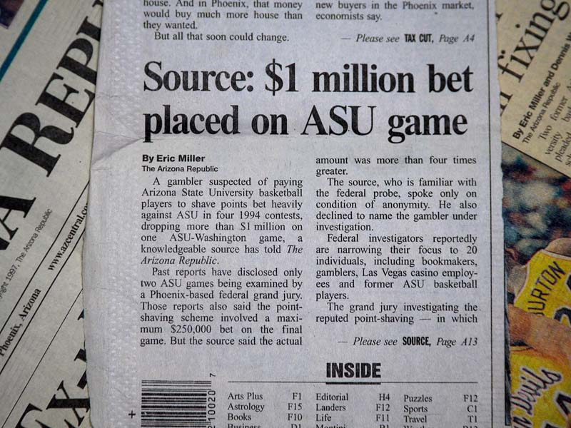 1 Million bet placed on ASU game