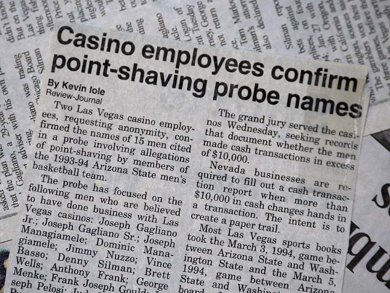 Casino employees confirm point shaving probe names