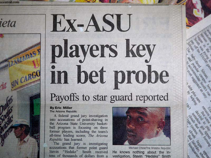 Ex-ASU players key in bet probe