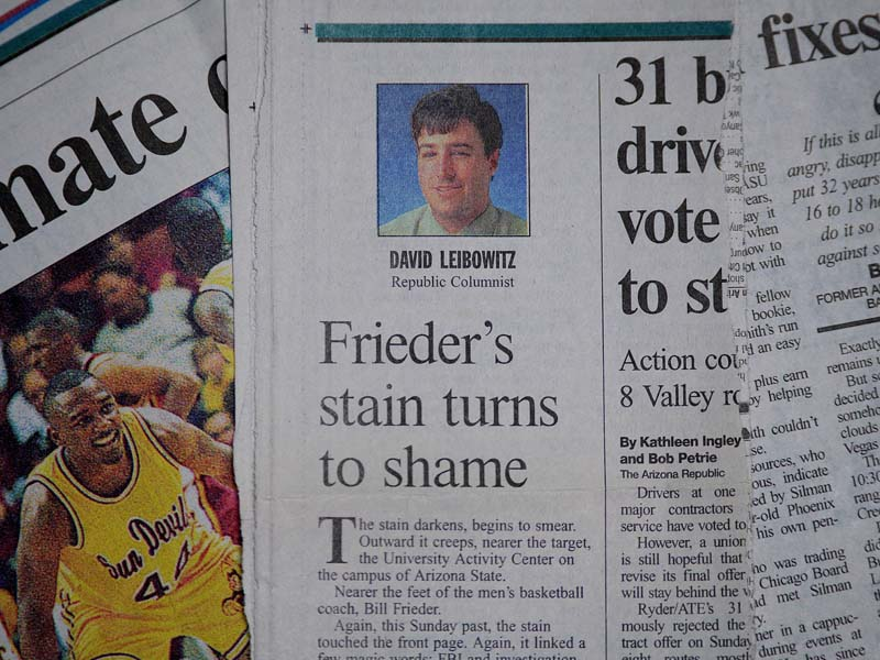 Frieders stain turns to shame