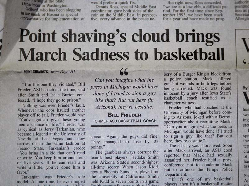Point shavings cloud brings march sadness to basketball