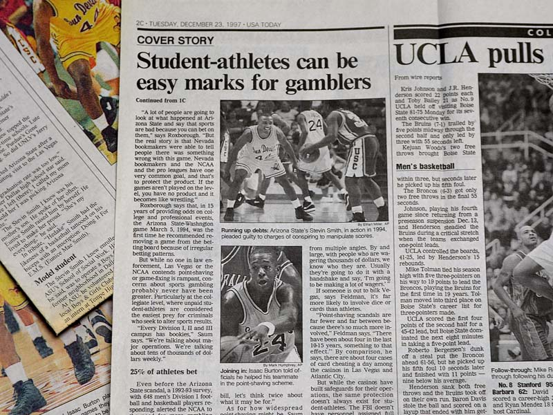 student-athletes can be easy marks for gamblers